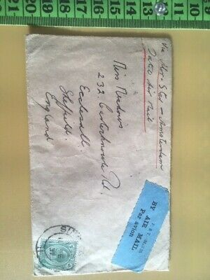 Stamps- Straits Settlements - Postal History Envelope - Singapore To England