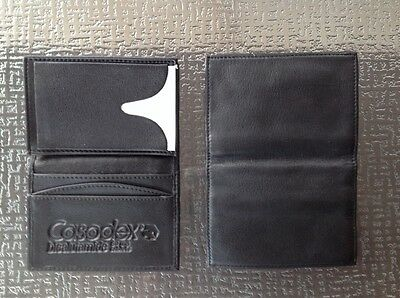 Two Black Leather Wallets - embossed with Logo - nice size - holds lots of cards