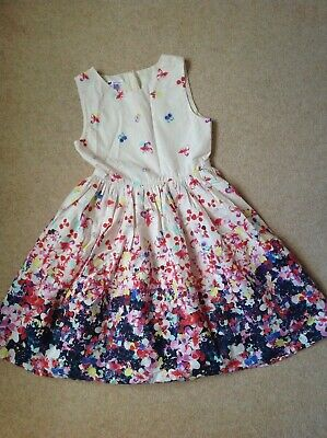 John Lewis Signature Girls Floral Dress Lined & With Net Underskirt Age 10