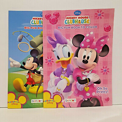 Disney Mickey Mouse Clubhouse Activity & Coloring Books Set Of 2