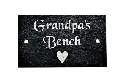 Personalised Engraved Slate Grave Marker Bench Memorial Plaque Plate Sign