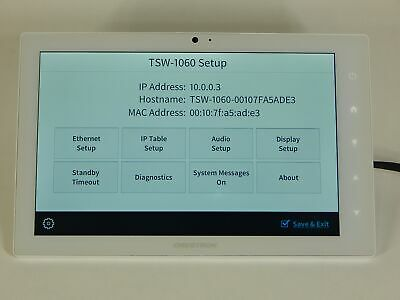 "Crestron TSW-1060-W-S 10"" Touch Screen Control Unit White"