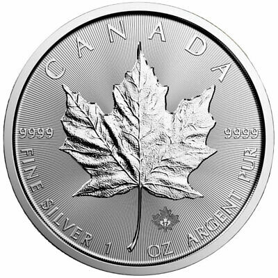 1 oz Silver Maple Leaf Coin - .9999 Pure Ag - Royal Canadian Mint