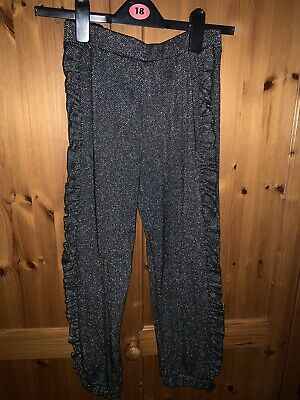Black Sparkly Trousers Age 9/10yrs