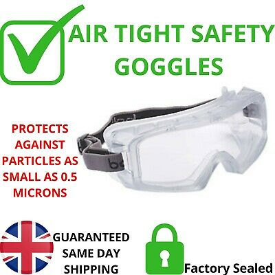 Safety Goggles Anti Chemical Sealed Dust Eye Protection Lab Work Wear  Bolle