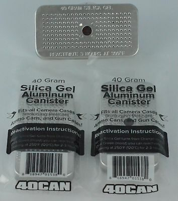 Set of 3 of the 40 Gram Silica Gel Canisters Dehumidifiers