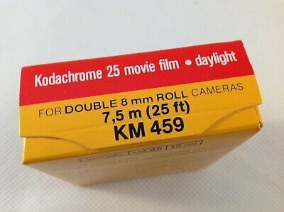 Kodachrome 25 Movie Film Daylight for Double 8mm Roll 7,5m 25ft KM 459 Vintage
