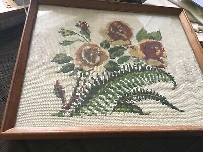Nans 32.5x27 cm framed embroidery work VGUC Surplus to need