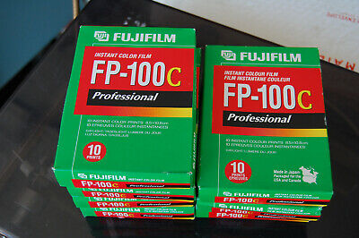 7 Packs FUJI FP-100C Fujifilm Instant Film - Discontinued Exp 2004 sealed boxes