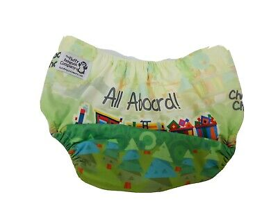 The Fluffy Penguin Company Cloth Diaper Cover Trains