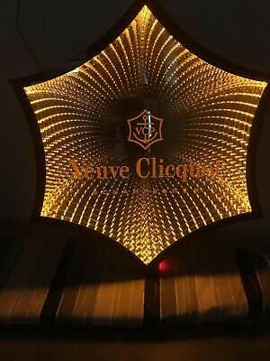 GENUINE RARE COLLECTABLE  Vueve Cliquot Large Promo Mirror and Light AU Seller