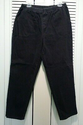 Euc!  Denim Co Women 1X How Timeless Black Denim Jeans Straight Pull On Stretch