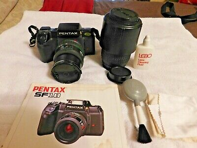 Pentax SF10 35mm SLR Film Camera With 2 Zoom Lens and 2 rolls of film