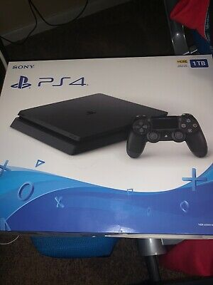New Sony PlayStation 4 PS4 Slim 1TB CUH-2215B Jet Black -SEALED NEW