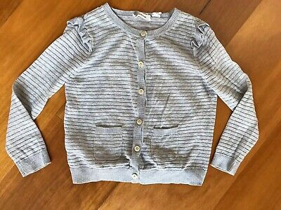 Girls Country Road Light Weight Silver Cardigan Size3
