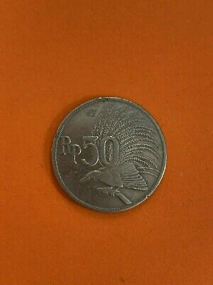 1971 Indonesia 50 Rupiah Coin Carded No Reserve Auction