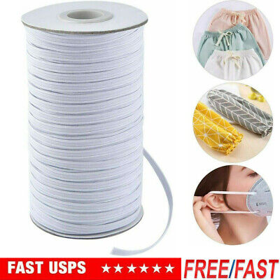 125 Yard Length DIY Braided Elastic Band Tape Cord Knit Band Sewing 6mm Width
