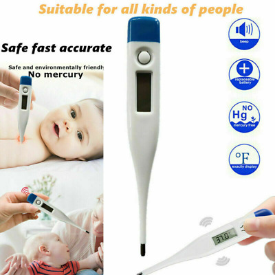 Home Fahrenheit Electronic LCD Thermometer Digital Baby Adult Body Fever US