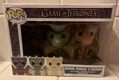 Funko Pop! Game of Thrones 3-Pack Dragons Drogon, Rhaegal & Viserion, vaulted