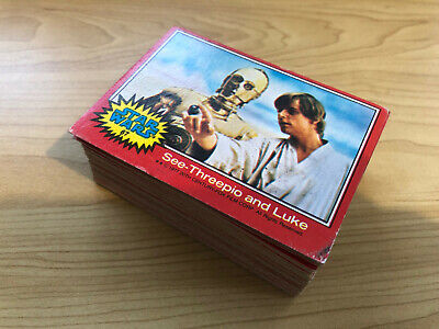 Star Wars - Series 2 (RED) - Complete 66 Trading Card Set - Topps 1977 - EX/EX+