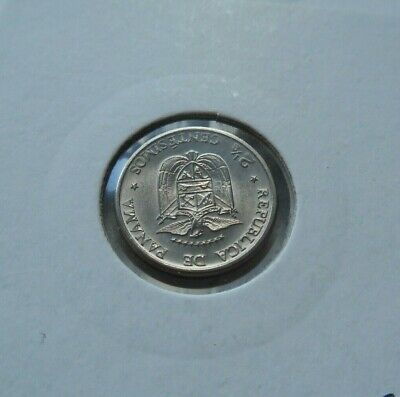 1973 Uncirculated Panama 2.5 Centimos Coin