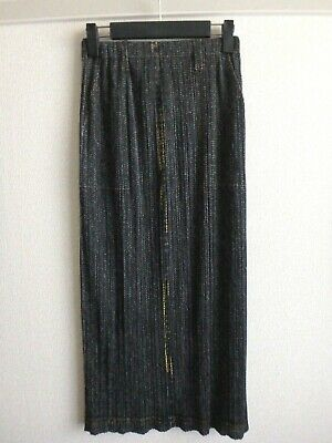 issey miyake pleats please skirt made in japan like denim size 3 excellent F/S