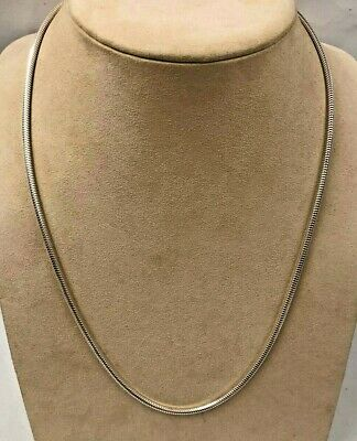Beautiful Milor Italy 950 Sterling Silver Snake Chain Necklace 24''