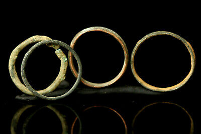 Lot Of 4 Celtic Brinze Ring Money 5Th Cent Bc.