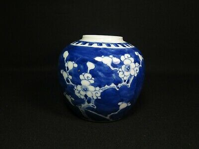 Chinese blue & white porcelain ginger jar 19th Century