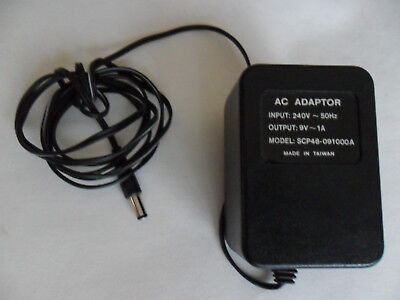 Scp48-O91000A Ac Power Supply Adapter 9V 1.0A