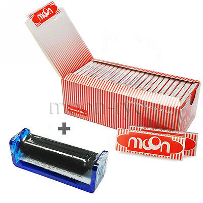 Moon 1 Box 50 Booklets Red Cigarette Tobacco Smoking Rolling Papers 2500 Leaves