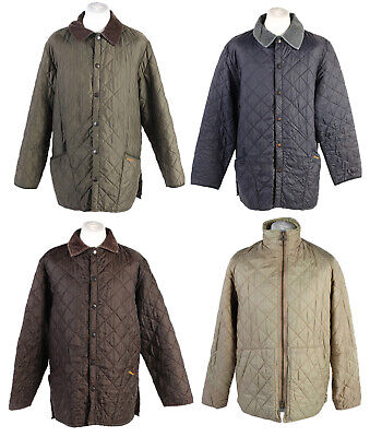 Job Lot Vintage Barbour Quilted Mens Coat Jacket Wholesale X10-Lot322