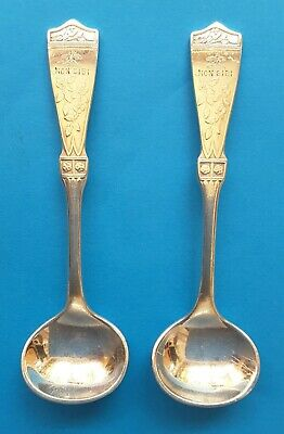 A Pair Of Sterling Silver Reed & Barton Condiment Spoons
