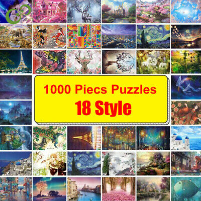 1000 Pieces Jigsaw Puzzle Traditional Boxed Landscape Art Decompression Toy Gift