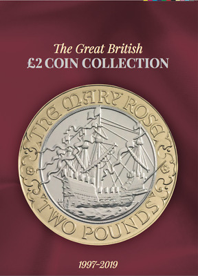 RED 2019 Edition Great British £2 Coin Hunt Collectors Coin Album RED E