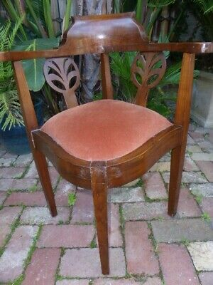 Reduced Antique French Polished Wheelhouse Corner Chair, Pick Up Highett