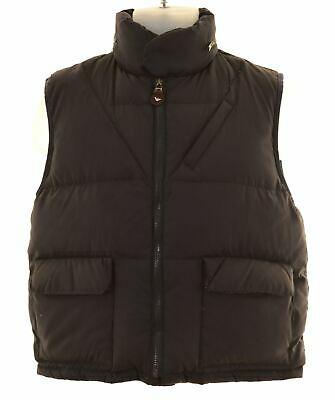 ARMANI JUNIOR Boys Padded Gilet 11-12 Years Small Black Nylon  FV18