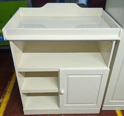 Tutti Bambini Alexia Cupboard With Top Changer - Vanilla Gloss