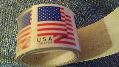 U.S. FOREVER FLAG STAMPS 2018 coil of 100 or 2 rolls for $99