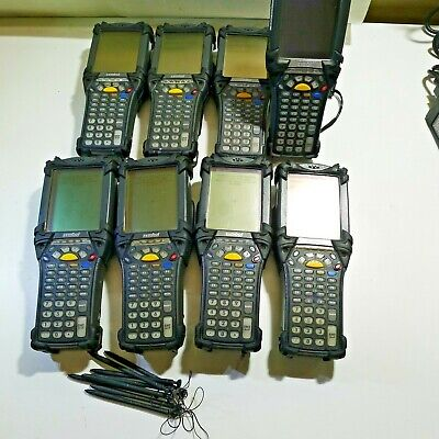 Lot of (8) Motorola Symbol MC9060 Touchscreen Scanners 8 x Batteries & Charger