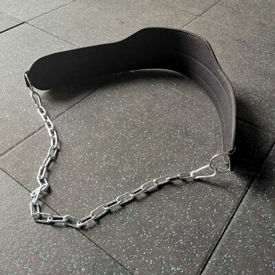 Weight Lifting Chain Dipping Belt Pull Up Chin Up Barbell Bodybuilding Gym Belt