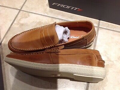 Bnib Front Mens Loafers Slip On Shoes Tan Brown Size Uk 7 Eur 41 Rrp £65