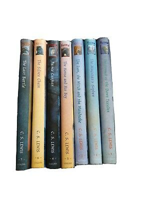 The Chronicles Of Narnia C.S.Lewis 7 Hardback Book Box Set Ted Smart #796