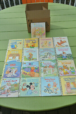 Lot of 17 LITTLE GOLDEN BOOKS Classic Vintage Disney Mixed Kids Collection