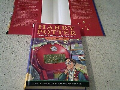 Superb  Harry Potter And The Philosophers Stone-- Hardback Print 30-J K Row
