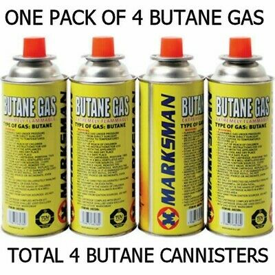 Marksman Butane Gas Canisters For Camping Portable Cooking Stoves Survival BBQ
