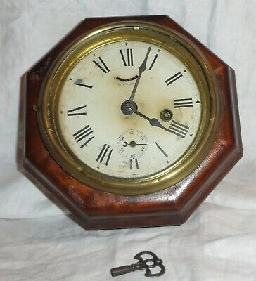 Seth Thomas 8 Day Lever Train Wall Clock Railroad Parts/Repair