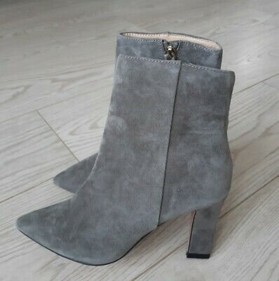 Gorgeous Silver Grey Jasper Conran Suede Ankle Boots Size 3
