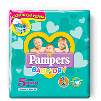 Pannolini Pampers Baby Dry Taglia 5