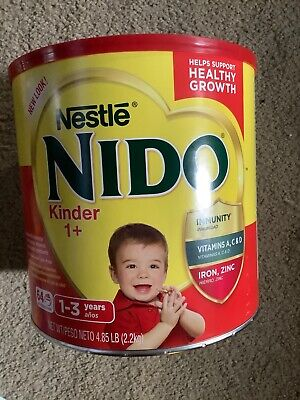 Nido Kinder 1+ Milk by Nestle Can Of  - ( 4.85 Lb) 77.6Oz - Huge Size